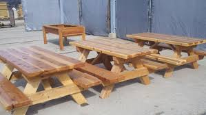 Picnic Table With Benches Picnic Tables And Benches