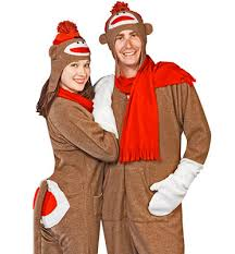 sock monkey costume footie factory sock monkey footie pajama costume delicious boutique