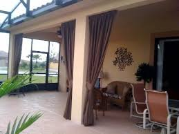 Lanai Patio Designs Florida Lanai Decorating Ideas Sunbrella Drapes Complete The