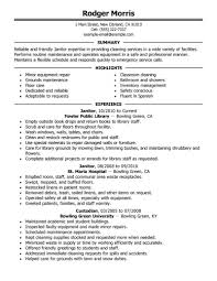 Sample Resume Objectives Janitor by Cleaning Lady Resume Contegri Com