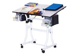 Martin Drafting Table Martin Creation Station Deluxe Hobby Table White With