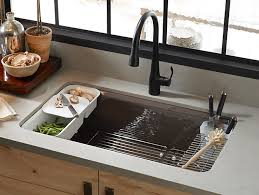 KUA Riverby UnderMount Kitchen Sink With Accessories - Kitchen sinks kohler