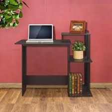 Computer Desk With Shelves by Buddy Products Home Office Furniture Furniture The Home Depot