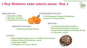 menu for diabetic weekly diet plan diabetic meal plans 7 day diabetes 1200