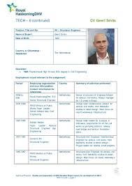 Structural Engineer Resume Wb K4 Geert Smits Structural Engineer Gs