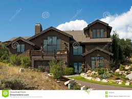 executive luxury log cabin home stock photo image 1353376