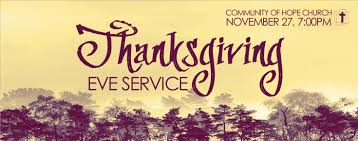thanksgiving and prayer thanksgiving eve service