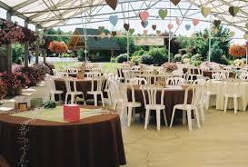 impressive outside wedding reception venues log house garden