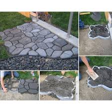 Concrete Driveway Paver Molds by Amazon Com Wovte Diy Walk Maker Concrete Stepping Stone Mold