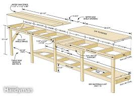 Woodworking Bench Height by 29 Original Table Saw Workbench Woodworking Plans Egorlin Com