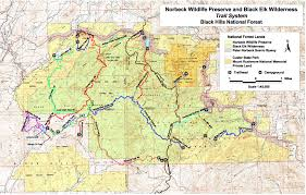 Map South Dakota Hiking In The Black Elk Wilderness Of South Dakota