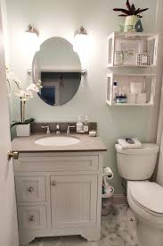 mid century bathroom design for small space with dull lighting