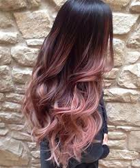 rose gold hair color cascading pink waves with ombre bayalage 19 rose gold hair color