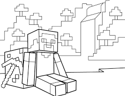 18 minecraft printable coloring pages images