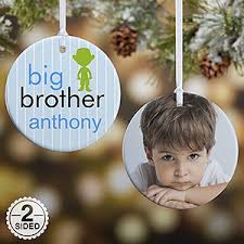 personalized ornaments brothers 2 sided
