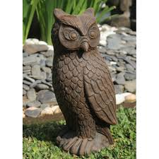 lofty idea garden owl statue decoration 1000 images