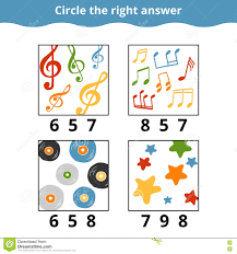 counting game for children education game with music items stock