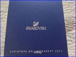 crystal figurine annual edition 2013 christmas ball ornament mib