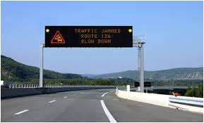 lighted message board signs manage traffic effectively using variable message signs on roads
