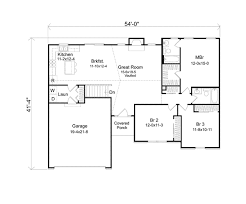 ranch home floor plan seymour mill ranch home plan 058d 0170 house plans and more