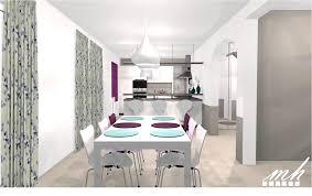 cuisine salle à manger salon comment aménager un salon salle à manger en longueur meilleur une