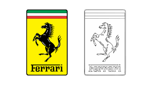 ferrari emblem how to draw the ferrari logo symbol emblem youtube