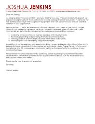 financial analyst cover letter