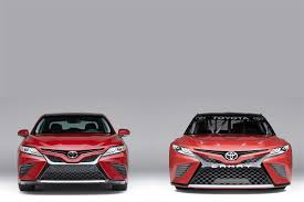 american toyota toyota unveils 2018 nascar camry at north american international