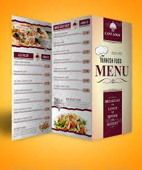 Tri Fold Menu Template Free tri fold menu templates pertamini co
