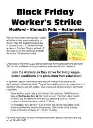 walmart black friday strike southern oregon walmart workers strike for raises rights and