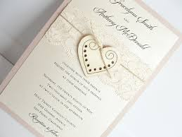 wooden wedding invitations rustic heart wedding invitation