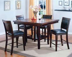 Tall Dining Room Sets by Fulton 5 Piece Counter Height Dining Set With Lazy Susan