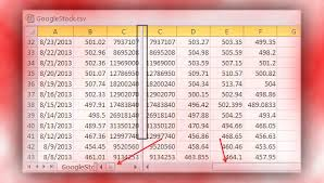 excel use synchronous scrolling and split multiple column rows in