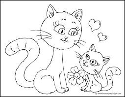 kitten mother cat coloring cat colors