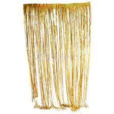 Gold Foil Curtain by Party Decoration 1 Set Gold Tinsel Foil Fringe Curtains Photo