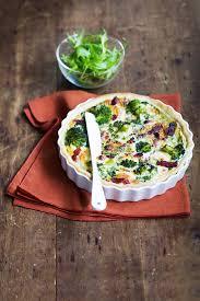 cuisiner brocolis frais quiche au brocoli chèvre et lardons fumés recette interfel les