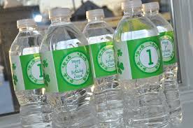 Decorate Water Bottle St Patrick U0027s Day Water Bottle Labels St Patrick U0027s Day