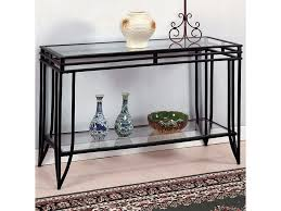 Glass And Metal Sofa Table Crown Mark Matrix Glass Top Sofa Table Dunk U0026 Bright Furniture