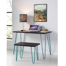 altra owen retro coffee table altra owen retro desk and stool set espresso teal walmart com