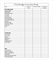 Simple Inventory Sheet Template Sle Food Inventory 7 Document In Pdf Excel