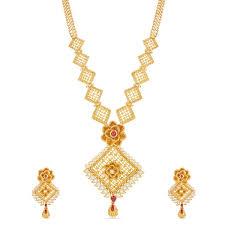 golden necklace new design images Gorgeous style necklace new fancy design gold necklace red jpg