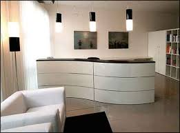 Front Reception Desk with Front Reception Desk Elegeant White Style New Childcare Center