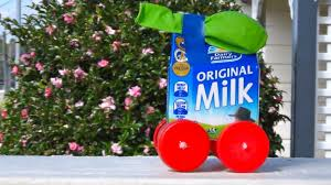 how to recycled craft balloon powered milk carton car youtube