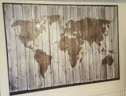 Large World Map Canvas by Ikea Premiar Driftwood World Map Picture Large Canvas In Walsall