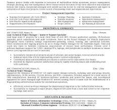 Sample Resume Project Manager by Beautifully Idea Project Manager Sample Resume 15 25 Best Ideas