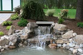 Backyard Waterfall Ideas by Fabulous Waterfall Landscaping Ideas Weddington Nc Waterfall