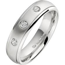 palladium mens wedding band diamond ring diamond set wedding ring for men in palladium with 3