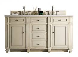 Double Sink Bathroom Vanity by 60 Inch Antique Double Sink Bathroom Vanity Vintage Vanilla Finish