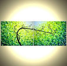 original abstract modern landscape made buy a made original tree painting large abstract trees