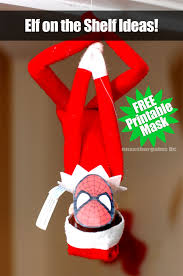 elf shelf spider man mask free printable mask